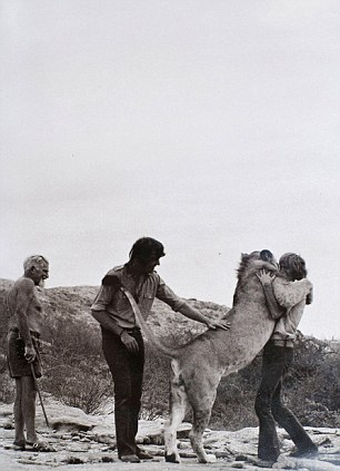 George Adamson, John Rendall, Christian the Lion and Anthony Ace Bourke
